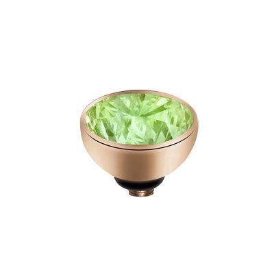 Melano Twisted Meddy Zirkonia Edelstaal Rose Goudkleurig Aqua Green