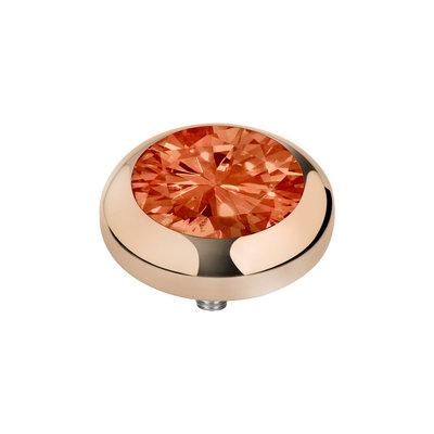 Melano Vivid Zirkonia Meddy Edelstaal Rose Goudkleurig Coral Red