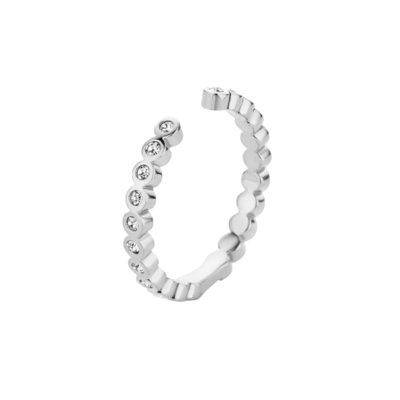 Melano Twisted Ring Tina Edelstaal Zilverkleurig Zirkonia Crystal
