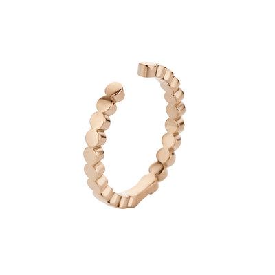 Melano Twisted Ring Tina Edelstaal Rose Goudkleurig