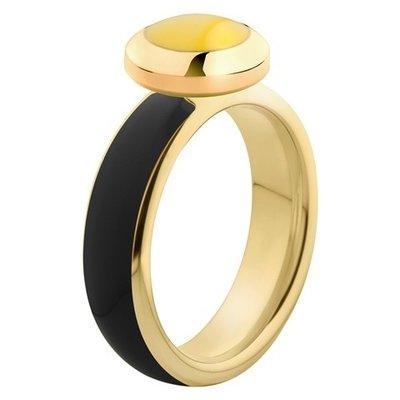 Melano Vivid Ring Edelstaal Goudkleurig Black