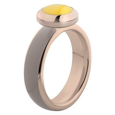 Melano Vivid Ring Edelstaal Rose Goudkleurig Taupe