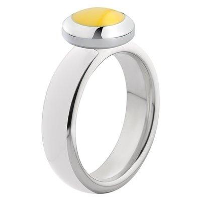 Melano Vivid Ring Edelstaal Zilverkleurig White
