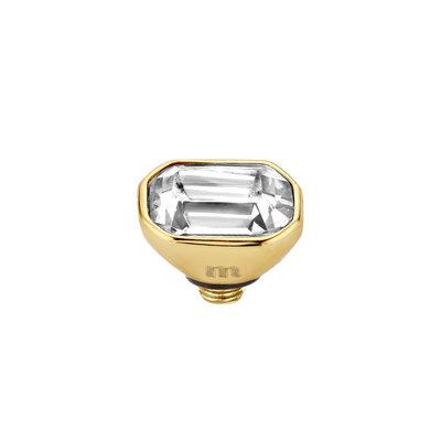 Melano Twisted Meddy 6mm Pillow Goudkleurig Crystal