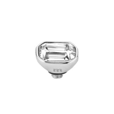 Melano Twisted Meddy 6mm Pillow Zilverkleurig Crystal