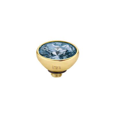 Melano Twisted Meddy 6mm Oval Goudkleurig Midnight