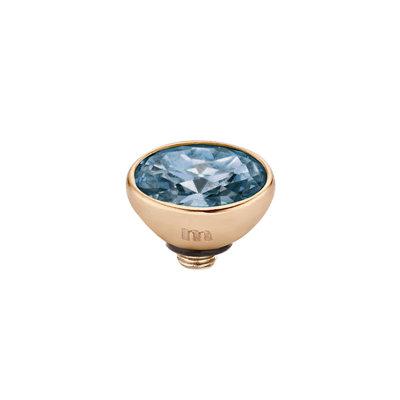 Melano Twisted Meddy 6mm Oval Rose Goudkleurig Midnight