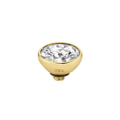 Melano Twisted Meddy 6mm Oval Goudkleurig Crystal