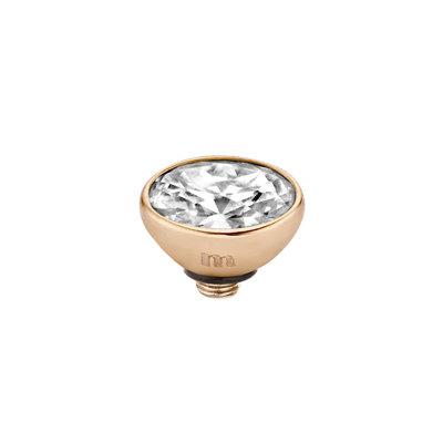 Melano Twisted Meddy 6mm Oval Rose Goudkleurig Crystal