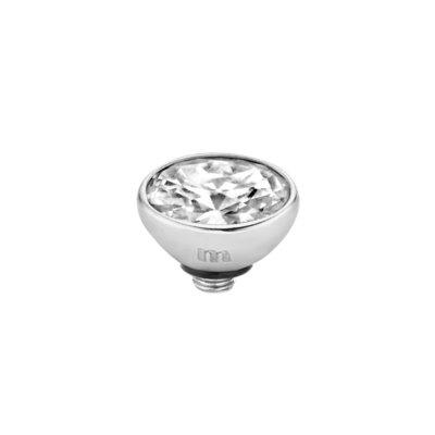Melano Twisted Meddy 6mm Oval Zilverkleurig Crystal