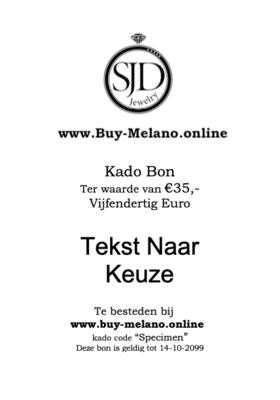 Buy-Melano.Online kado bon € 35