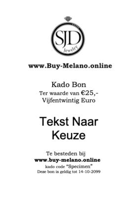 Buy-Melano.Online kado bon € 25