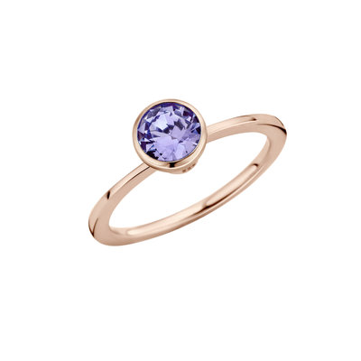 Melano Twisted Ring Rose Goudkleurig Petit 1mm