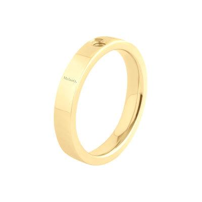 Melano 2de kans Twisted Edelstaal Ring Goudkleurig Tatum 4mm  maat 48