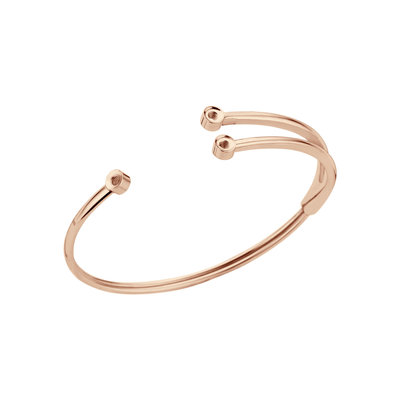 Melano Twisted Armband Trio Rose Goudkleurig