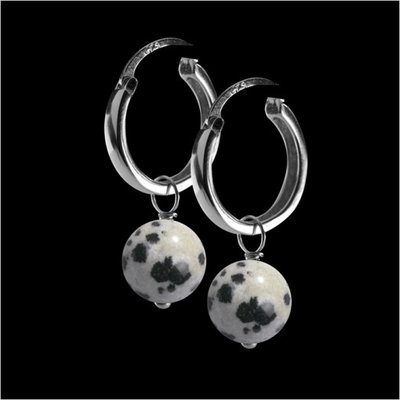 Melano 2de kans Precious Stone Cateye Oorringen Accessoire Dalmatian