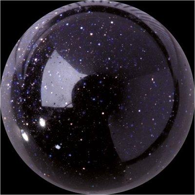 Melano GEM Stone Ball Purple Goldstone