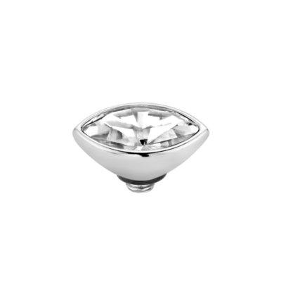 Melano Twisted Meddy 8mm Marquise Zilverkleurig Crystal