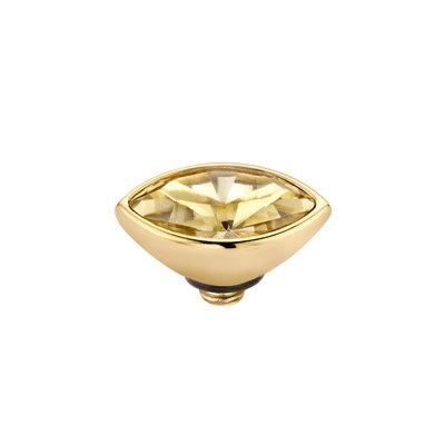Melano Twisted Meddy 6mm Marquise Goudkleurig Gold-coloured Shadow