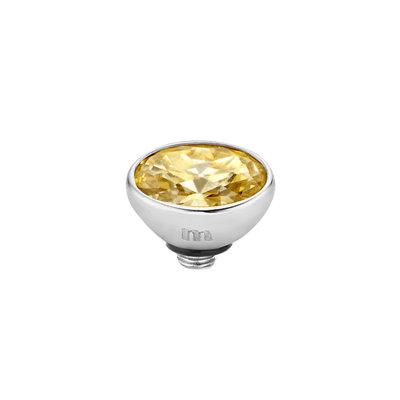 Melano Twisted Meddy 6mm Oval Zilverkleurig Gold-coloured Shadow