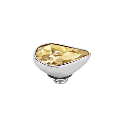 Melano Twisted Meddy 8mm Pear Zilverkleurig  Gold-coloured Shadow