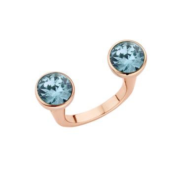 Melano Twisted Open Ring Rose Goudkleurig