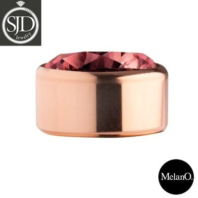 Melano Sturdy Meddy Rose Goudkleurig Zirkonia Dark Red