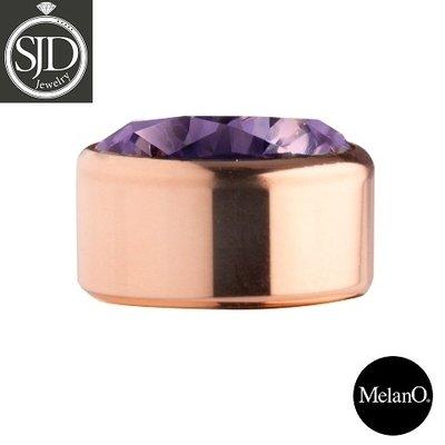 Melano Sturdy Meddy Rose Goudkleurig Zirkonia Purple