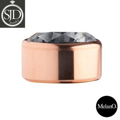 Melano Sturdy Meddy Rose Goudkleurig Zirkonia Transparant Black
