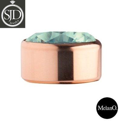 Melano Sturdy Meddy Rose Goudkleurig Zirkonia Turquoise
