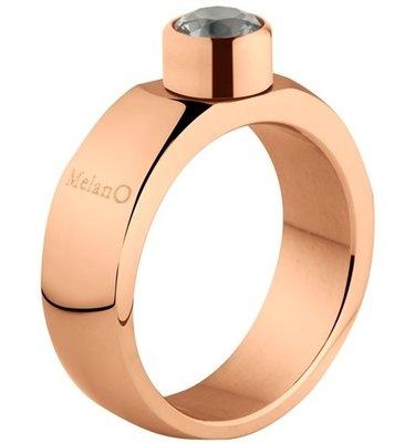 Melano Sturdy Ring Stefanie Edelstaal Rose Goudkleurig 6mm