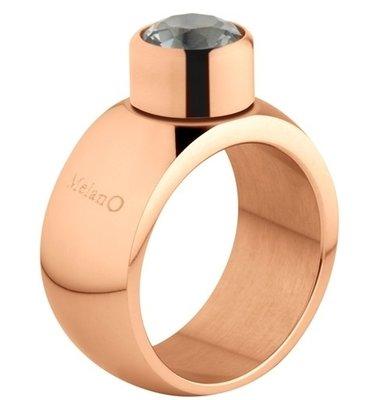 Melano Sturdy Ring Stefanie Edelstaal Rose Goudkleurig 12mm