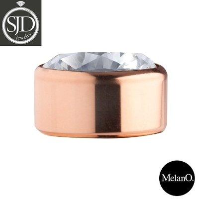 Melano Sturdy Meddy Rose Goudkleurig Zirkonia Crystal