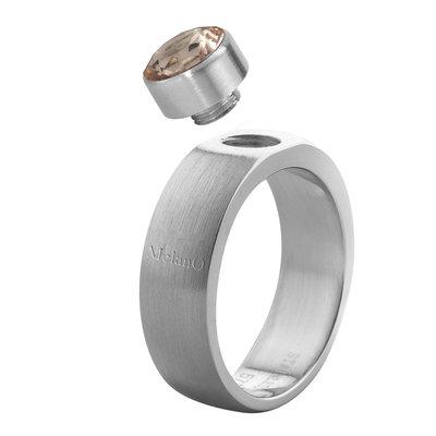 Melano Sturdy Ring Stefanie Edelstaal Mat 6mm