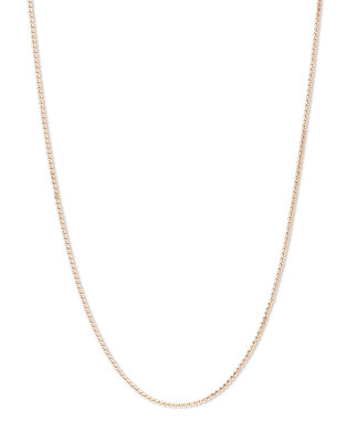 Melano Friends Ketting Flat Wheat Rose Goudkleurig