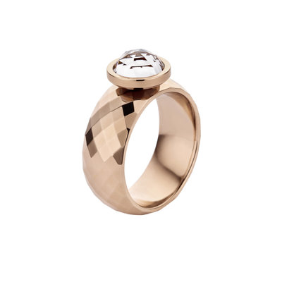 Melano Vivid Ring Vai Edelstaal Rose Goudkleurig 8mm breed