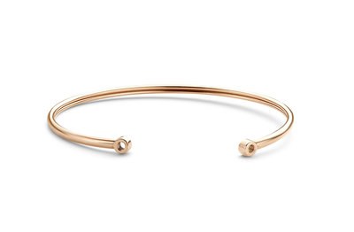 Melano Twisted Open Armband Rose Goudkleurig