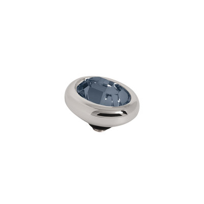 Melano Twisted Meddy Oval Zilverkleurig Montano