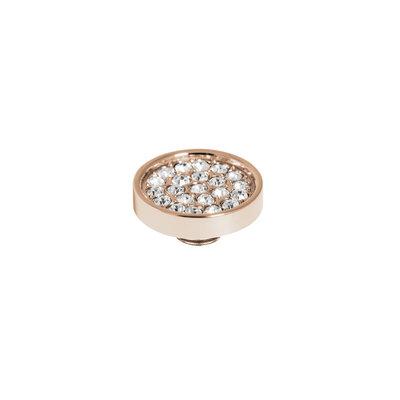 Melano Vivid Meddy 12mm  Rose Goudkleurig Zirkonia Crystal