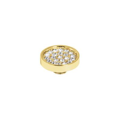 Melano Vivid Meddy 12mm  Goudkleurig Zirkonia Crystal
