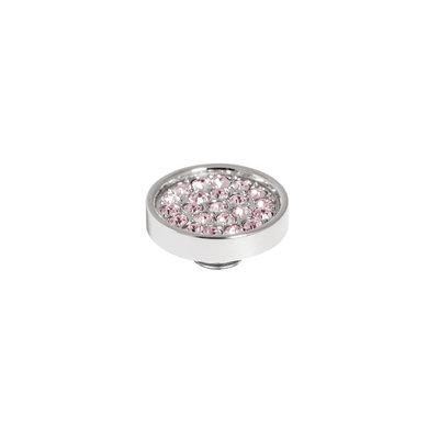 Melano Vivid Meddy 12mm  Zilverkleurig Zirkonia Blossom