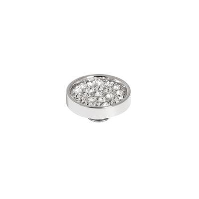 Melano Vivid Meddy 12mm  Zilverkleurig Zirkonia Crystal