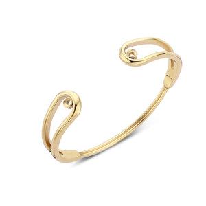Melano Twisted Double Loop Armband Goudkleurig