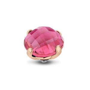 Melano Twisted Facet Bold Meddy Rose Goudkleurig Zirkonia Rose 12mm