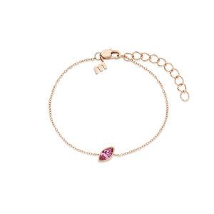 Melano Friends Armband Mini Marquise Rose Goudkleurig Swarovski Rose