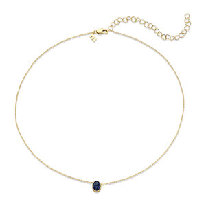 Melano Friends Necklace Oval Gold-coloured Swarovski Montana