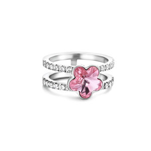 Melano Mix & Match Twisted Pretty in flowers ring set