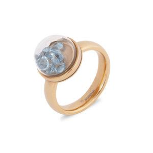 Melano Globe ring rose goudkleurig 4mm
