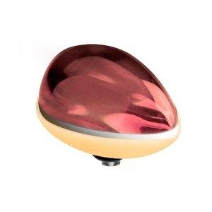 Melano Twisted Meddy Pear Edelstaal Dark Red Goudkleurig