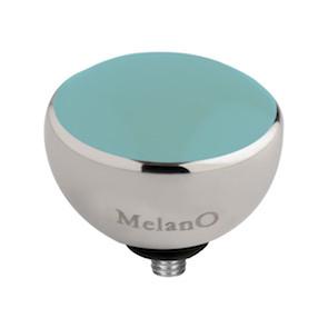 Melano Twisted Resin Meddy Edelstaal Zilverkleurig Turquoise